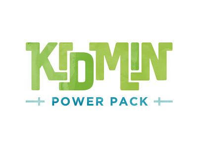 Kidmin Power Pack Logo cross typography kids ministry church sunday school education watercolor package piece logo
