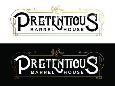 Pretentious Barrel House Logo