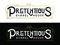 Pretentious Barrel House Logo