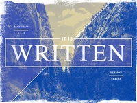 Sermon Series: It Is Written | Matthew 4:1-11