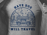 Have Dog Will Travel Illustration