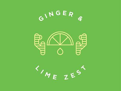 Ginger Lime Flavor Illustration flavor line work produce ginger lime