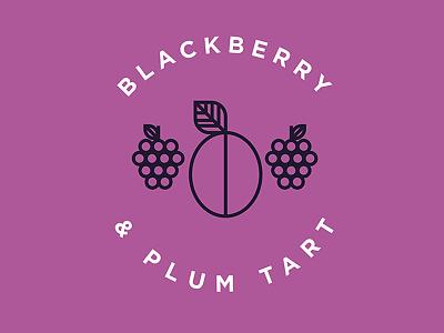 Blackberry & Plum Tart Flavor Illustration illustration food plum blackberry vector lines