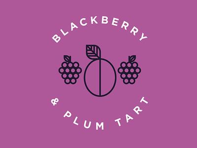 Blackberry & Plum Tart Flavor Illustration