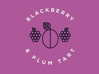 Blackberry & Plum Tart Flavor Illustration