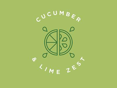 Cucumber Lime Flavor Illustration vector line art craft beer lime cucumber