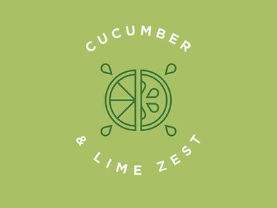 Cucumber Lime Flavor Illustration
