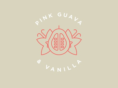 Pink Guava & Vanilla Flavor Illustration sours craft beer line art vector simple vanilla minimalist pink guava