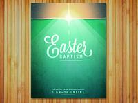 Easter Baptism Poster