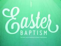 Easter Baptism Detail