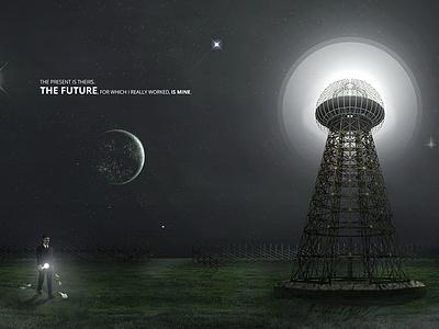 The Future - Nikola Tesla danilo zac digital art wardenclyffe tower photomanipulation the future nikola tesla