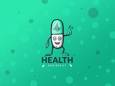 Health Assistant - Logo / Illustration leaf nature pulse pill capsule illustration logo assistant health