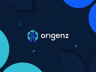 Origenz logo | Ethnicity project modern colorful typography ethnicity logo animation origenz brand tree user person origin lknet family branding dark mode motion ae video after effects
