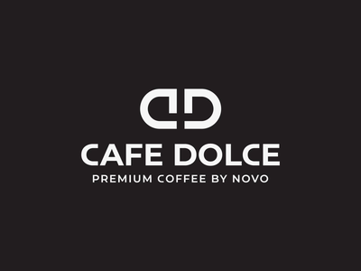 Cafe Dolce logo | Premium coffee coffee drink coffee beans espresso premium caffeine retro modern dark brand animation after effects logo luxury restaurant minimalist monogram cd logo cafe logo