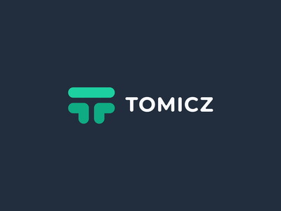 Tomicz logo - Software Agency t monogram t letter vr virtual reality green monogram tomicz after effects video ae motion dark mode branding lknet brand animation logo typography colorful modern