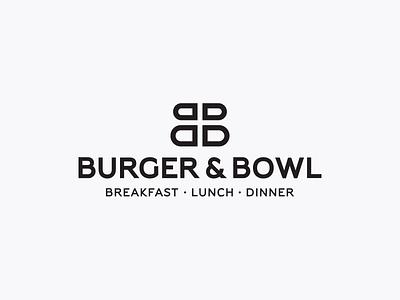Burger and Bowl - Logo animation dinner lunch breakfast bb logo burgers food restaurant modern colorful typography logo animation brand lknet branding motion ae video after effects monogram