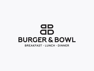 Burger and Bowl - Logo animation