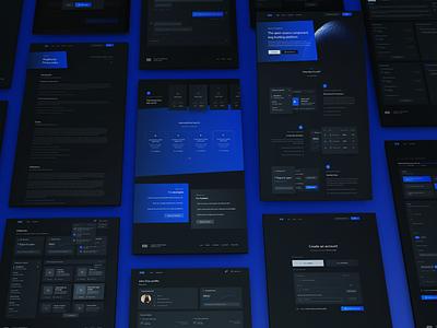 Web application screens | PlugBounty web design app design ux ui lknet clean modern dark ui plugbounty landing page dashboard application web