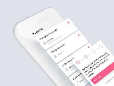 UI elements for mobile app | PoCatWalk elements mobile ui ux design colorful elegant fashion modern clean screens minimal