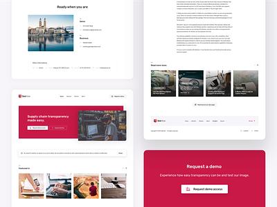 Website redesign | SeeHow app news blog solution home contact lknet minimalism modern red ux ui mobile web design redesign website landing page