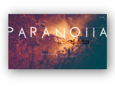 Paranoiia Productions - Landing Page