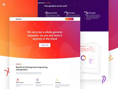 Landing Page - Healthcare e-commerce homepage healthcare ecommerce genome website first shot gradient ui ux web design design landing page