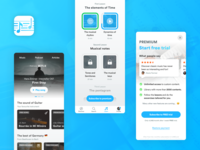 Designflows 2019 ios in-app cards ui design challenge challenge music player app music player design app review app design ui design ui icon music app spotify classical music music paywall reviews app
