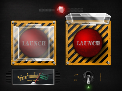 Command Assets button lamp switch meter launch