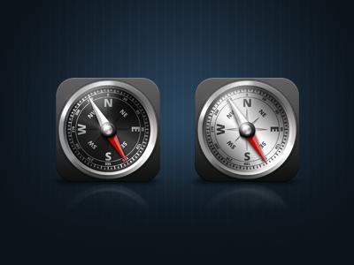 iOS Compass Icon