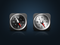 iOS Compass Icon