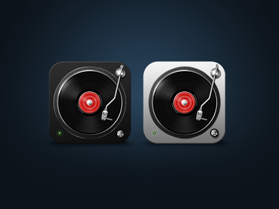 iOS Music Icons music icon lp player black white ios