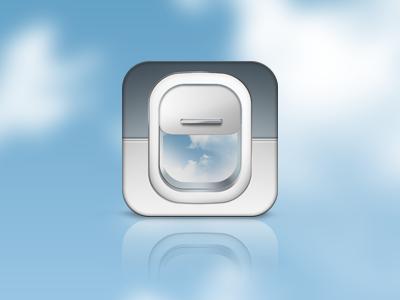 Flight iOS Icon fly flight sky icon ios iphone window plane