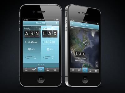 Flight Tracker App iphone ios plane travel flight gui ui