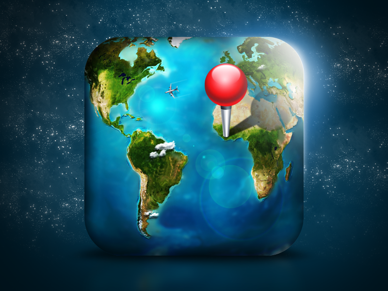 World/Map iOS Icon world icon map ios