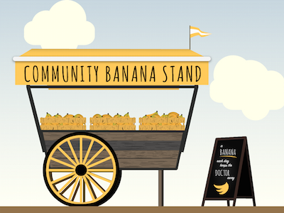 Banana Stand illustration banana stand