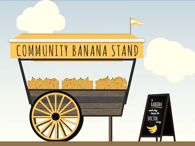 Banana Stand illustration banana stand