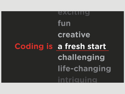 Coding Is _______ Business Card card business