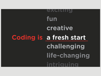 Coding Is _______ Business Card