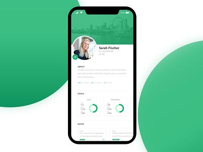 Daily UI 006 - User Profile iphone budget app green user interface adobe illustrator daily ui