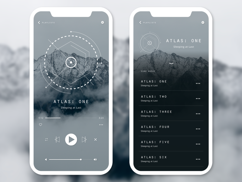 Daily UI 009 - Music Player music player app adobe illustrator geometric illustrator daily ui 009 daily ui daily 100 challenge clean app design adobe ilustrator