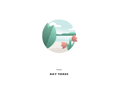 Day 3 desaturated adobe illustrator leaves flowers circle texture gradients illustrator design challenge