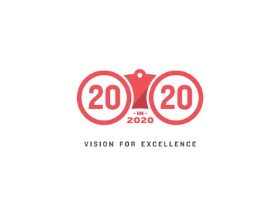 Marketing Logo Proposal sight vision circular circles 2020 binoculars marketing logo red illustration