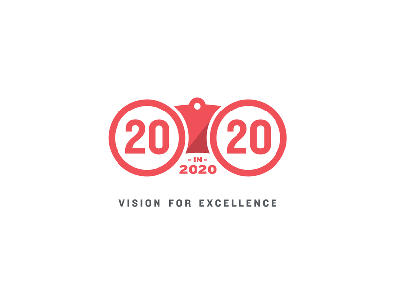 Marketing Logo Proposal sight vision circular circles 2020 binoculars marketing logo red illustration