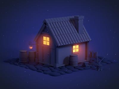 Quiet night c4d