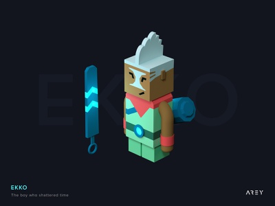 This is Ekko, the character of League of Legends. c4d