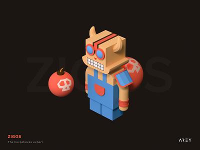 This is Ziggs! c4d