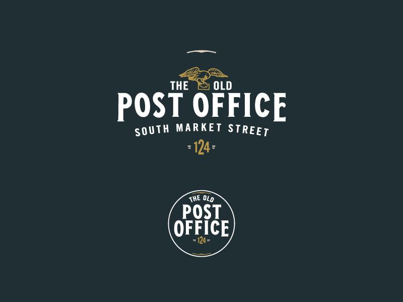 Modern / 1915 era Logo lettering post office office brand logo