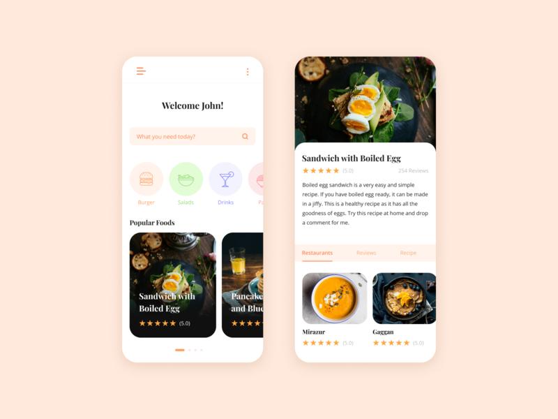 Food App mark illustraion food illustration ux ui food app ui food app design mobile app logo mark app design uiux uiuxdesign food app