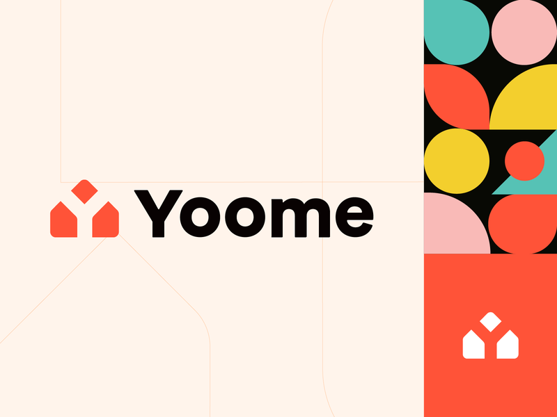 Yoome letter mark branding mark symbol illustration colors realestate y logo lettermark home mark yoome yoome logo property logo real estate logo home logo mark letter y y mark