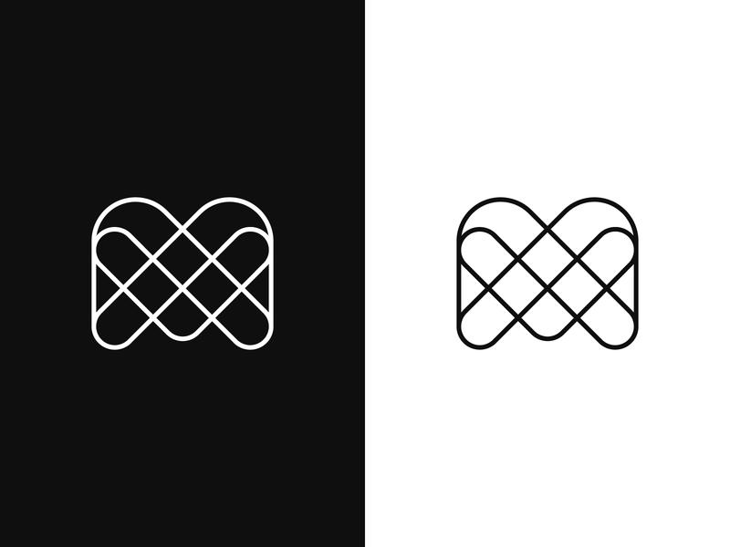 M mark m letter logo mark symbol branding illustration identity minimal logo minimal m monogram love logo love mark grid mark letter mark m letter line art logo lineart m logo